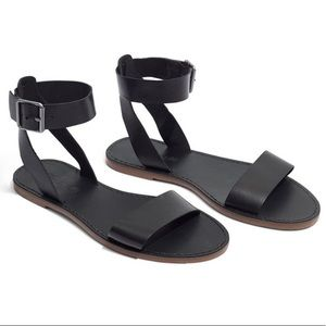 """Madewell """"Boardwalk"""" Leather Ankle Strap Sandals"""